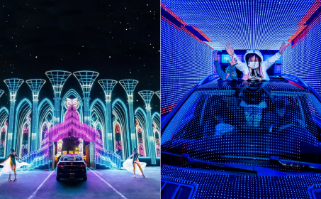 Electric Mile Drive-Thru Lights Experience at Santa Anita Park in Arcadia