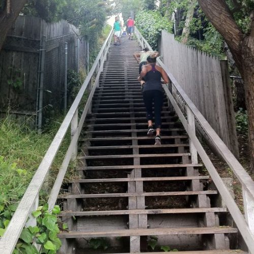 Get a cardio workout in at the Santa Monica Stairs