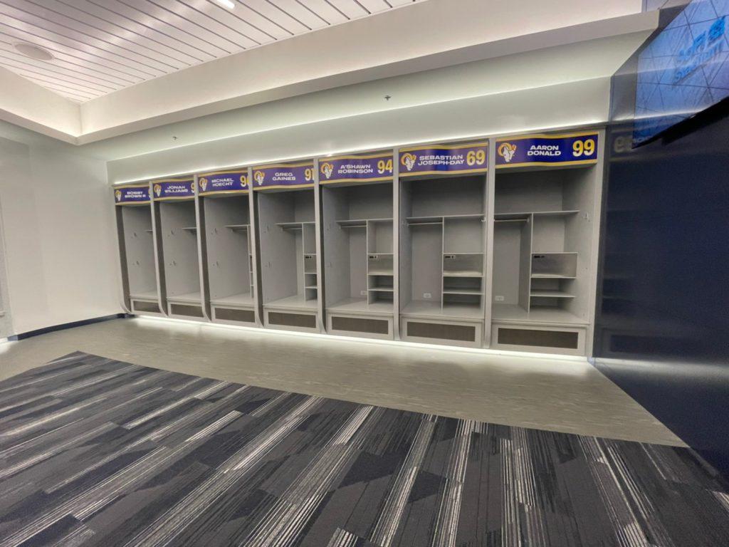sofi stadium rams locker room