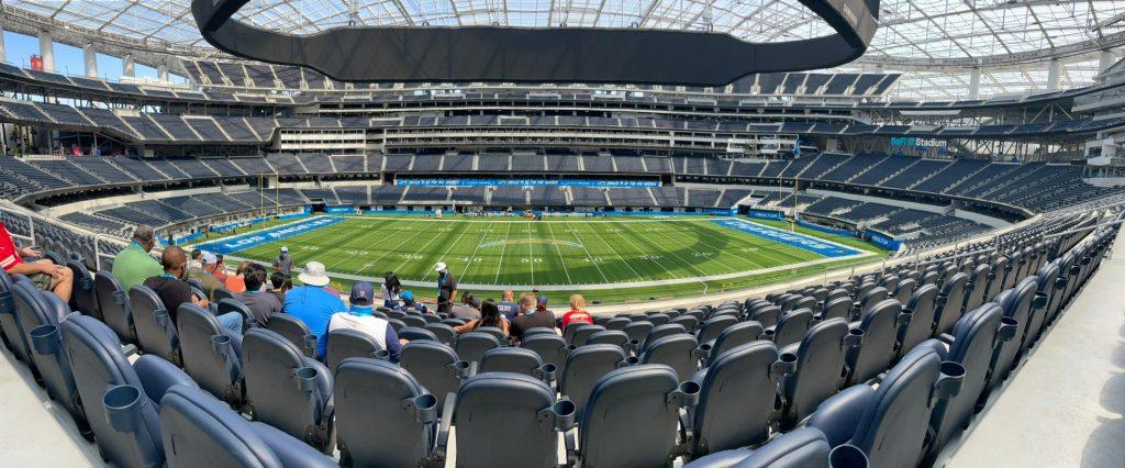 sofi stadium panorama view field