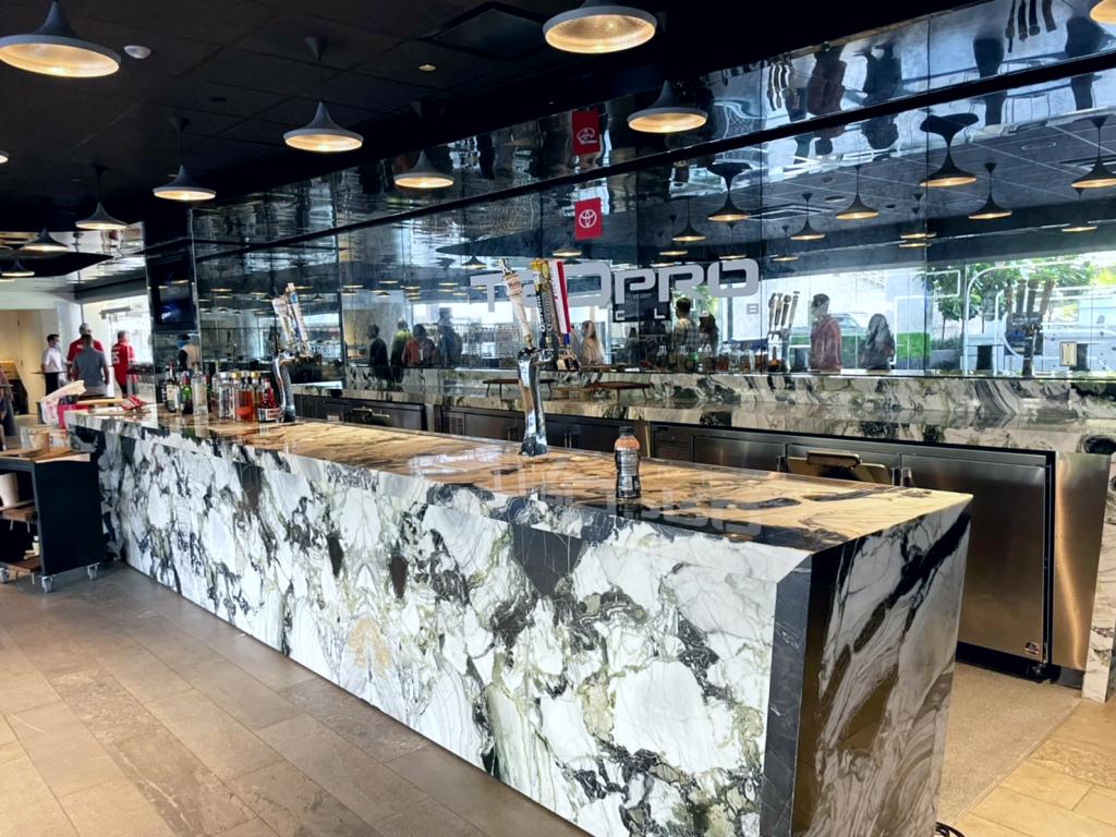 sofi stadium indoor bar area