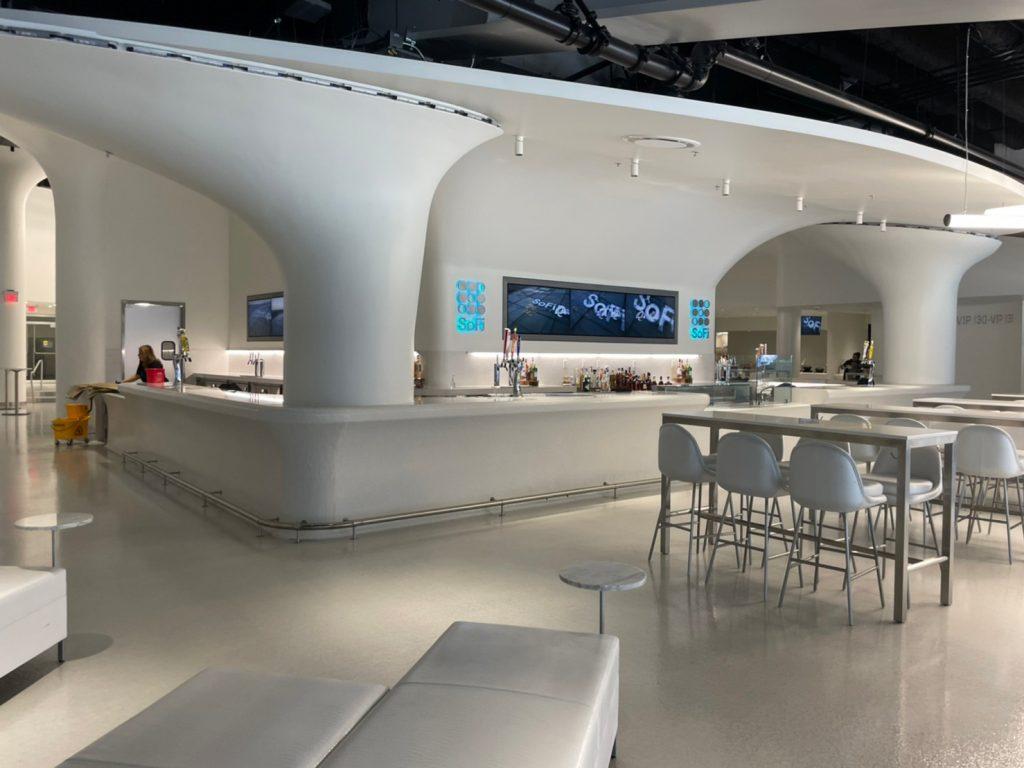 sofi stadium restaurant interior los angeles