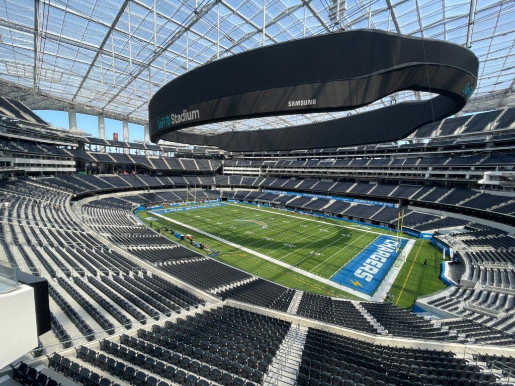sofi stadium inglewood chargers view