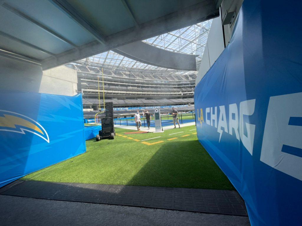 sofi stadium tunnel run football